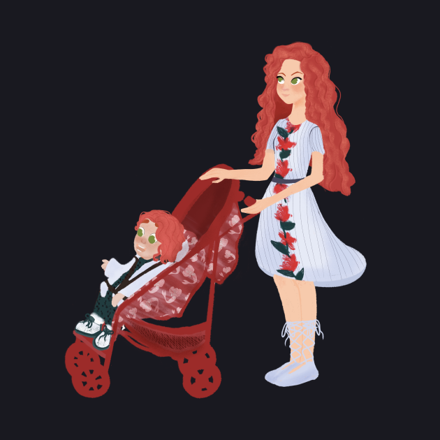 Redhair Mom and Daughter