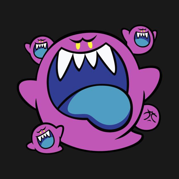 dark boo squad super mario super mario t shirt teepublic