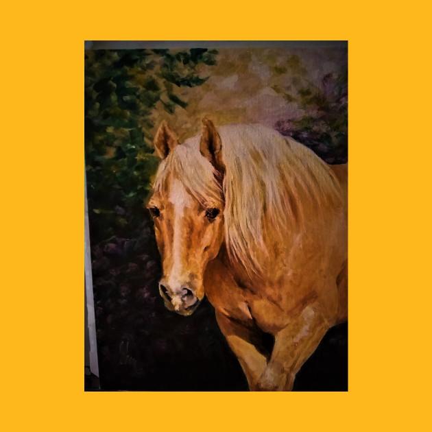 Creative Horse Lovers Birthday Gifts Ideas Palamino Portrait Artist Rendering