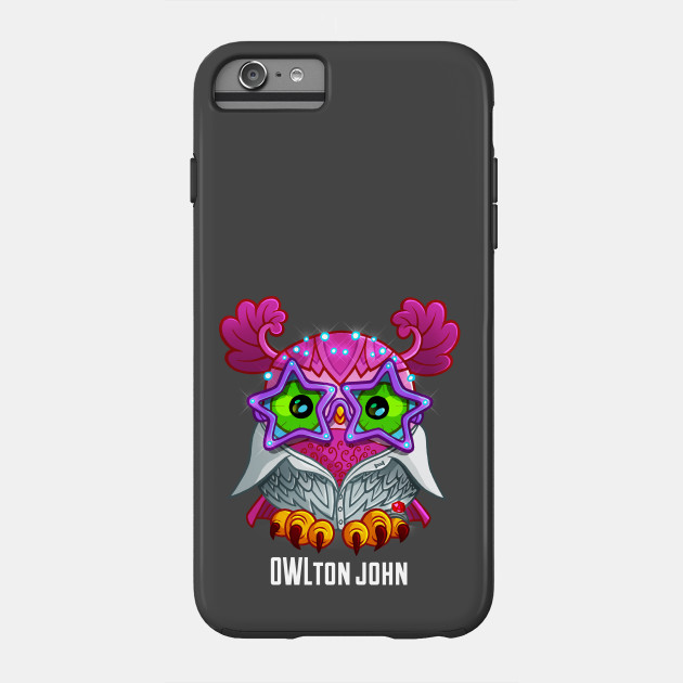 Owl ton john owl phone case teepublic