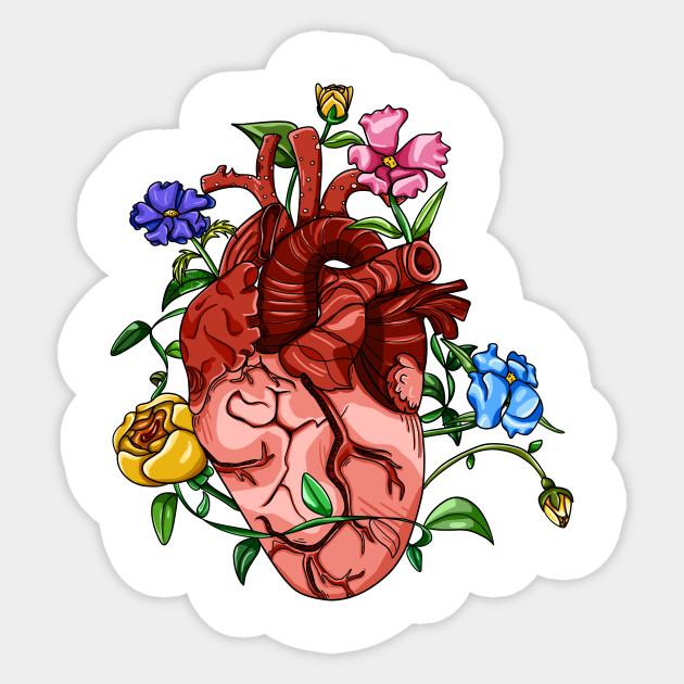 Overgrown Heart - Anatomy - Sticker   TeePublic
