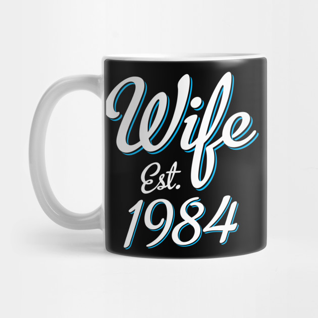 34th Wedding Anniversary Gift Wife Est. 1984 ...