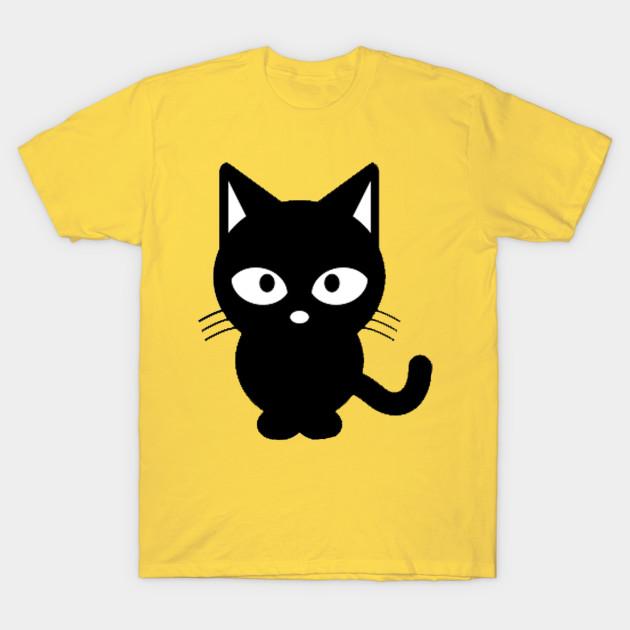 Cute Cat Black And White Clipart Cats T Shirt Teepublic