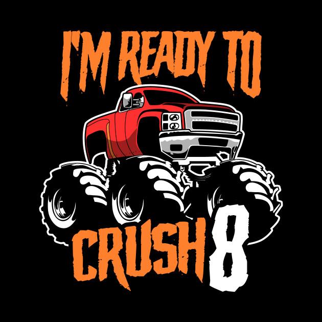 Monster Trucks 8th Birthday Gift | Big Trucks
