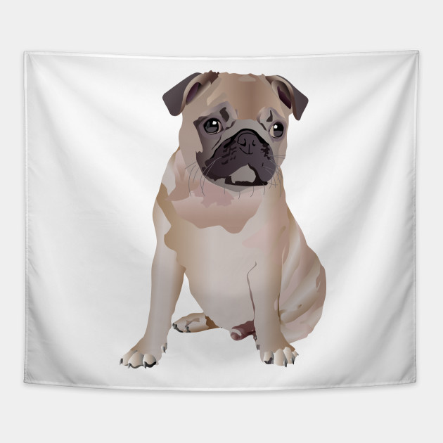 Pug Puppy I Love My Pug Designs Tapestry Teepublic
