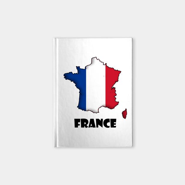 France Map Flag.France Map Flag France Notebook Teepublic