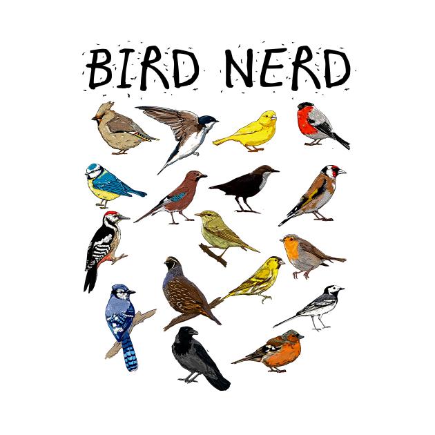 'Bird Nerd Different Kinds of Bird' Cute Bird Lover Gift
