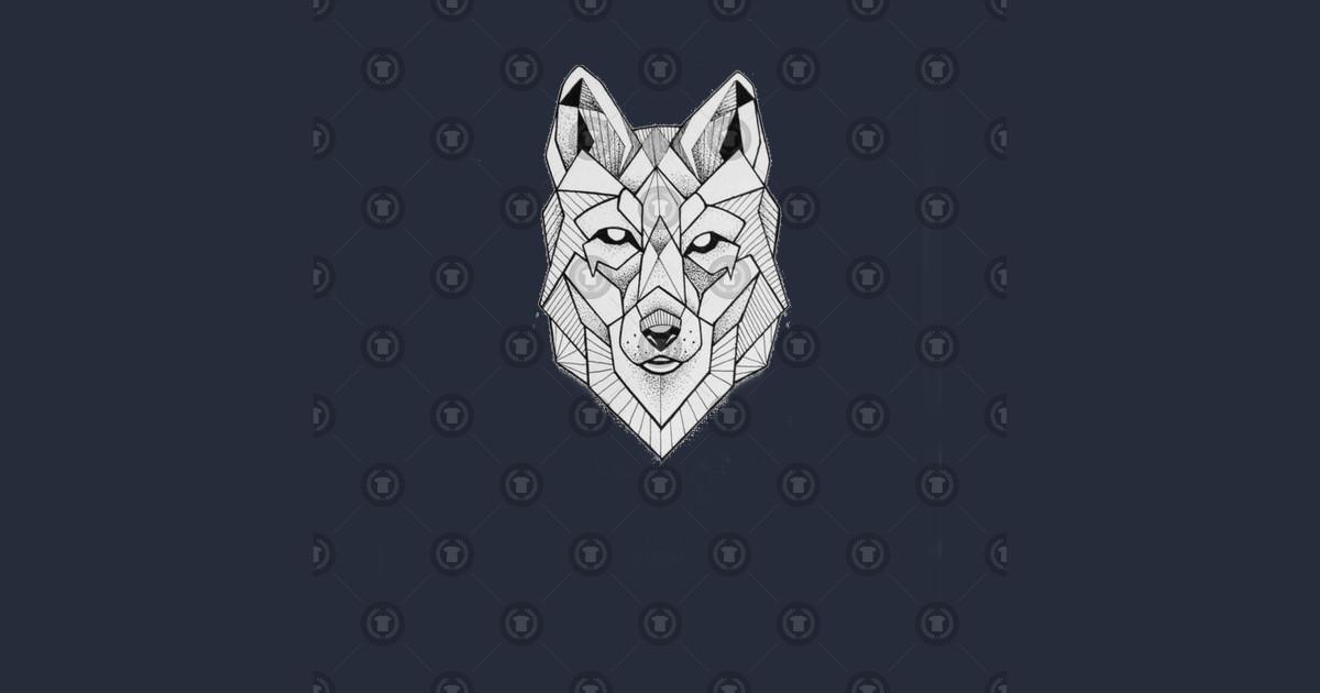 Geometric wolf face - Geometric Wolf - T-Shirt | TeePublic