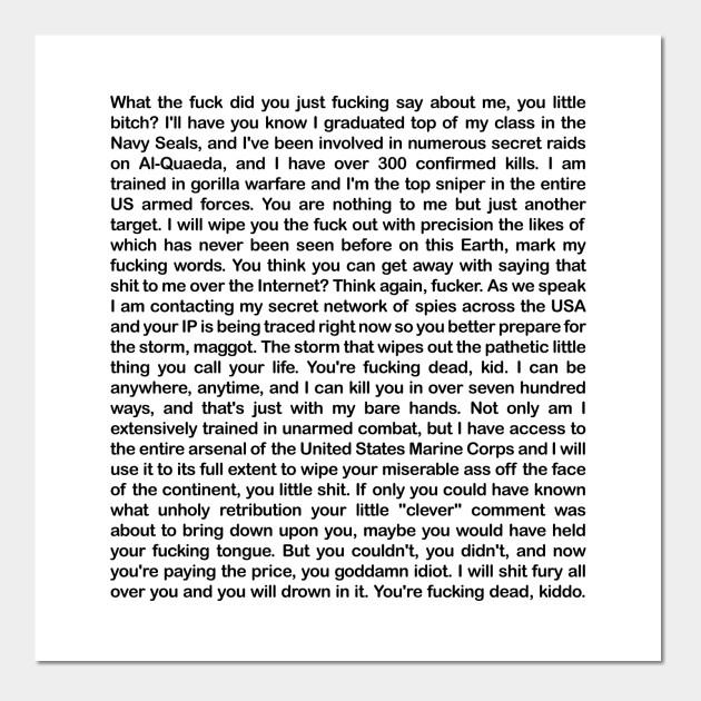 Copypasta Text Navy Seal