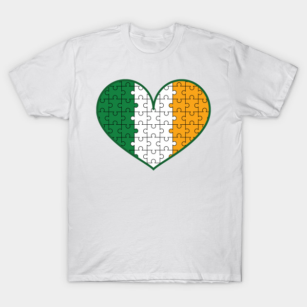 7045e9239 Irish Heart flag St. Patrick's Day Gift – Autism Awareness - Autism ...