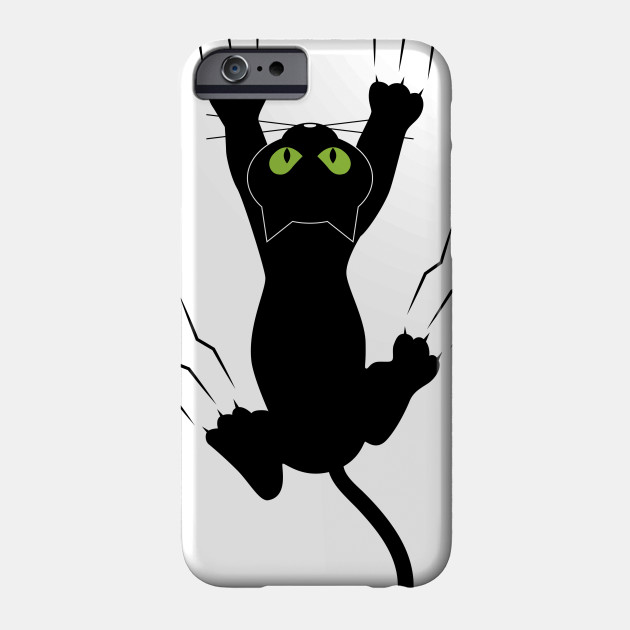 88994f47 Funny Black Angry Cat T-Shirt I Love Cats Cute Graphic Tee Phone Case