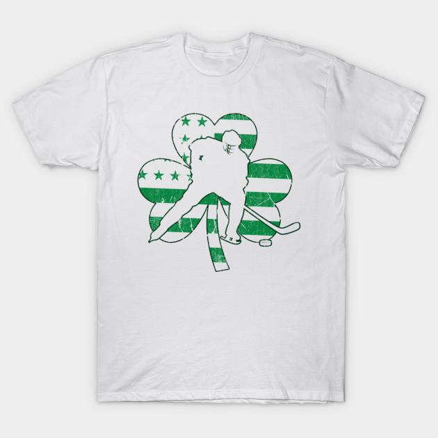 47798d0d47 Irish American Hockey Flag Hockey St Patrick s Gift - Patrick - T ...