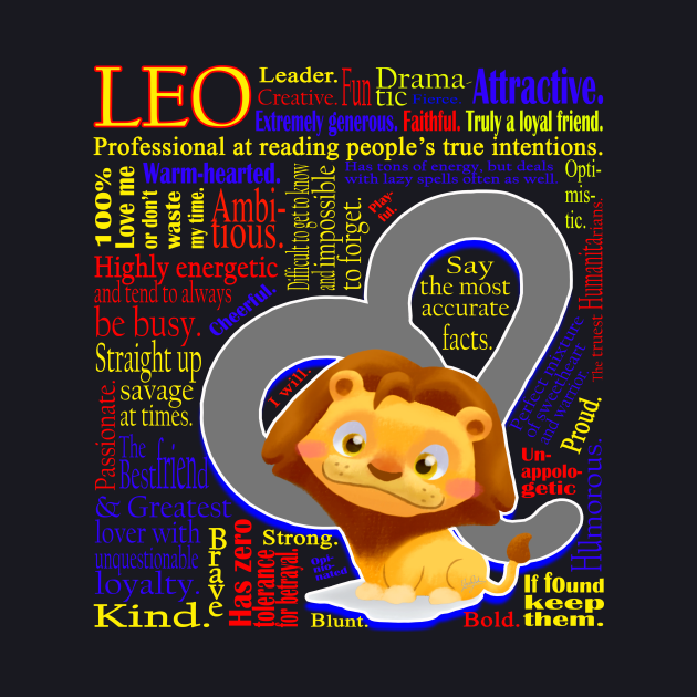 Leo Symbol Personality Traits cute Zodiac Sign T-Shirt