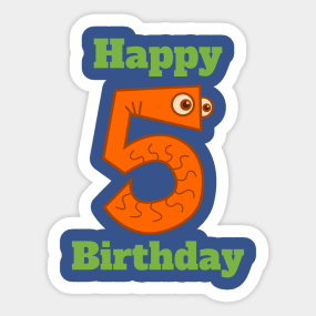 Girl Birthday 5 Stickers Teepublic
