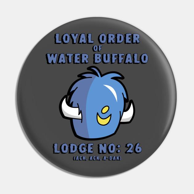 Cape African Buffalo Pinback Button Pin Badge