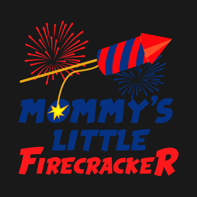 Mommy/'s Little Firecracker Cute Kids T shirt Tops USA Flag Fourth of July