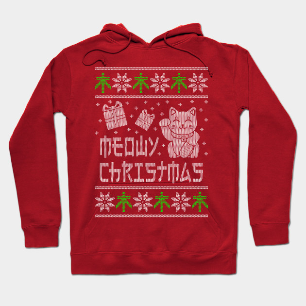 Meowy Christmas Sweater.Meowy Christmas Ugly Cat Shirt And Sweatshirt