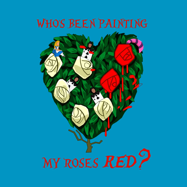 Who's been painting my roses RED?