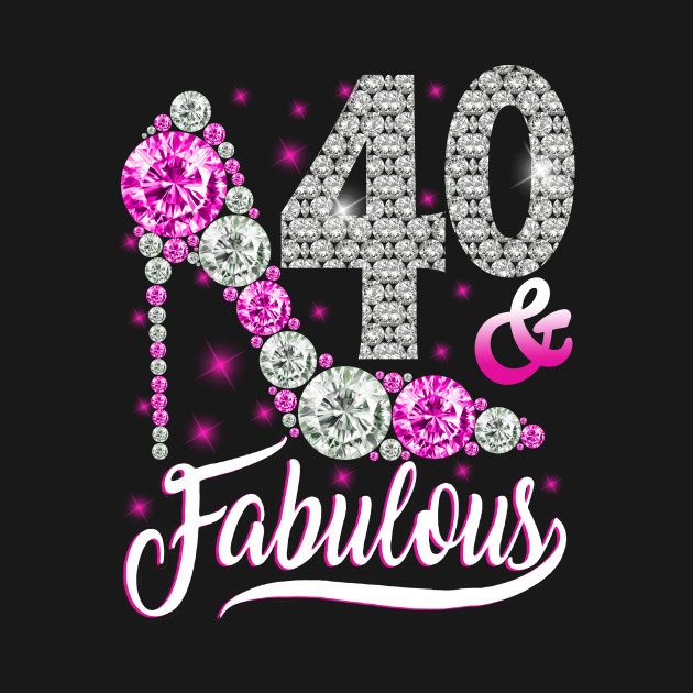40 And Fabulous T Shirt 40th Birthday Gift Women Autism Awareness