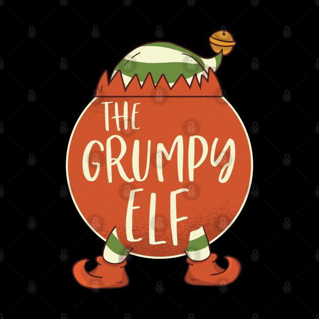 Grumpy Elf Family Christmas Costume Outfits Pajamas