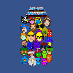 He Man Masters of the Universe collage art t-shirts