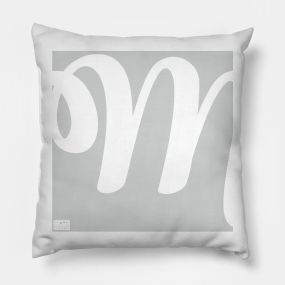 main tag cursive letter m pillows