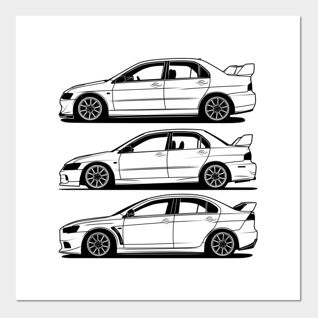 Mitsubishi Lancer Evolution Generations Best Shirt Design