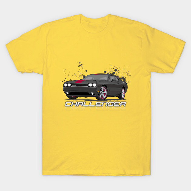 Dodge Challenger T-Shirt V1 Yellow