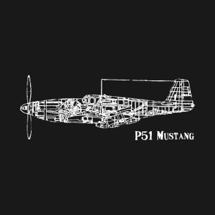 North American P51 Mustang t-shirts