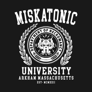 CTHULU AND LOVECRAFT - MISKATONIC UNIVERSITY t-shirts