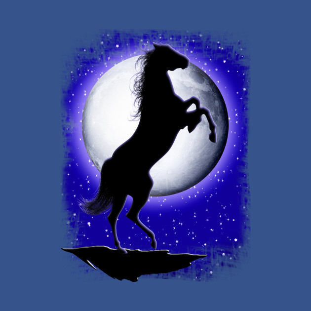 362efddf4546 Wild Horse on Blue Moon - Stallion - Onesie