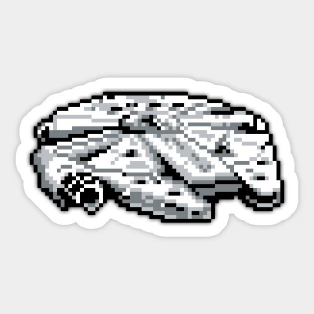 The Millennium Falcon Low Res Pixelart
