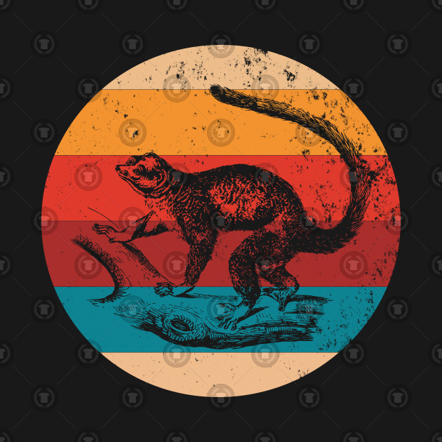 Vintage Mongoose Lover Retro Style Silhouette Gift