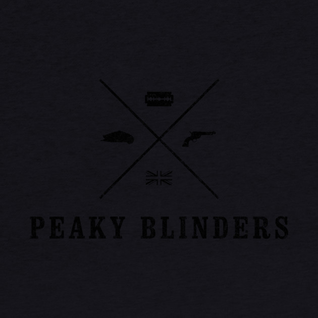 Peaky Blinders - Cross Logo - Black Dirty