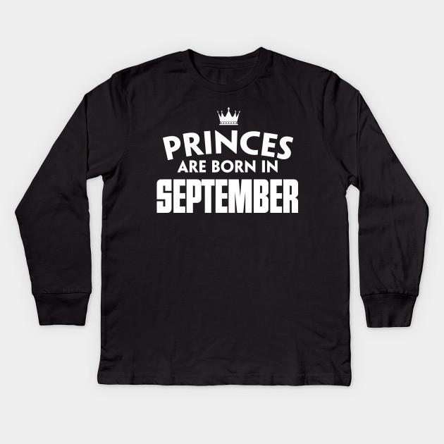 September T Shirts Birthday For Girl Women Kids Long Sleeve Shirt