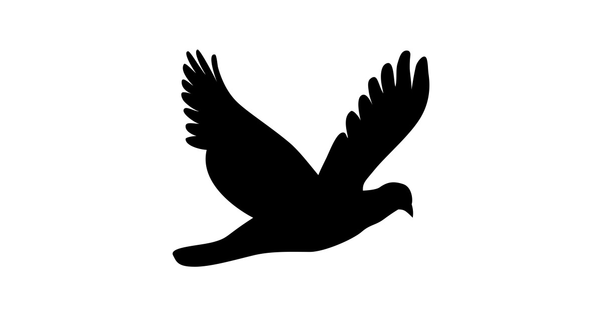 LIMITED EDITION  Exclusive Flying Dove Silhouette by arvegenydesign