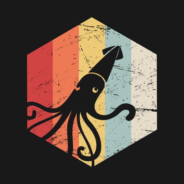 Retro Kraken Giant Squid