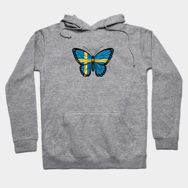 b9ba3502 Swedish Flag Butterfly - Sweden - Hoodie | TeePublic