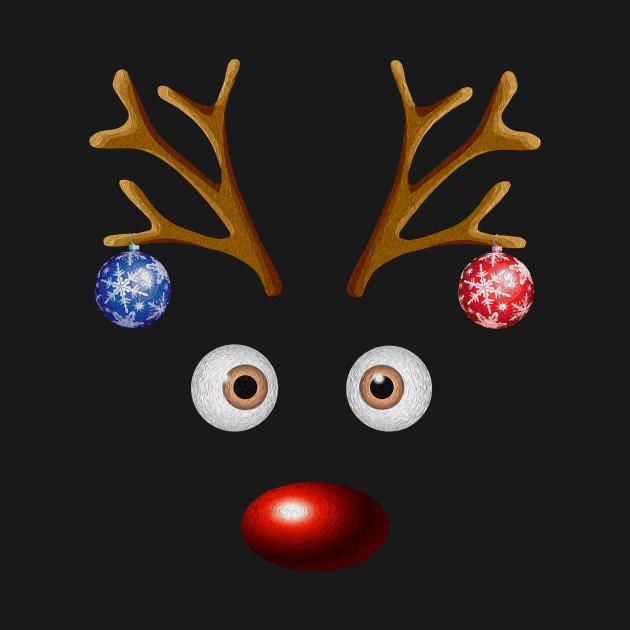Funny Reindeer Christmas Ball Xmas Family Holidays Gift