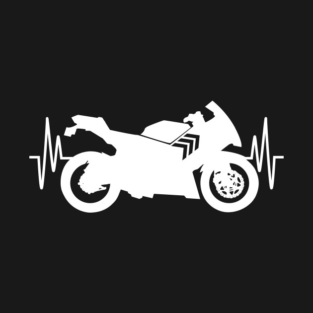 Grandpa Motorcycle Heartbeat T-Shirt