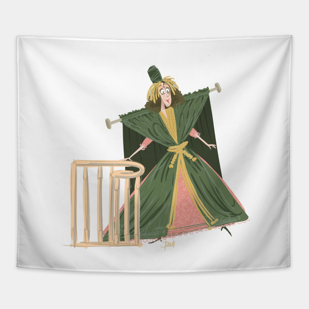 The Gone With The Wind Curtain Dress Sketch Tapestry Teepublic