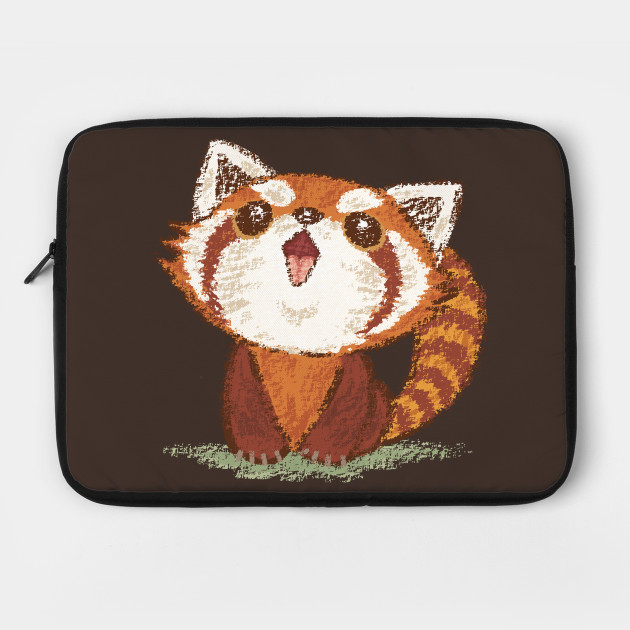 Red panda happy