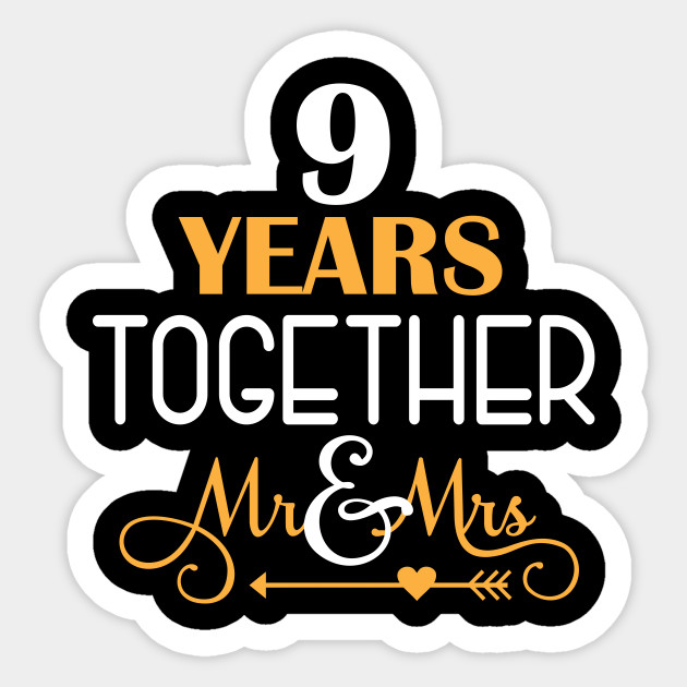 9 Years Together Shirt For 9th Wedding Anniversary 9th Wedding