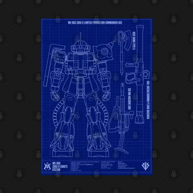 Zaku II Blueprint
