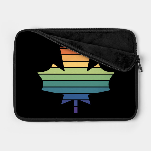 Muted Rainbow Gay Pride Horizon Maple Leaf