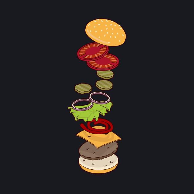 cheeseburger exploded