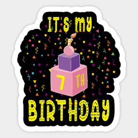 7 Years Old Boy Birthday Gift Stickers