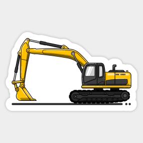 Excavator Stickers | TeePublic