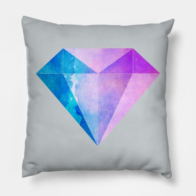 Blue Purple Diamond Diamond Pillow Teepublic