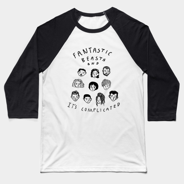 Fantastic Beasts and It's Complicated Baseball T-Shirt